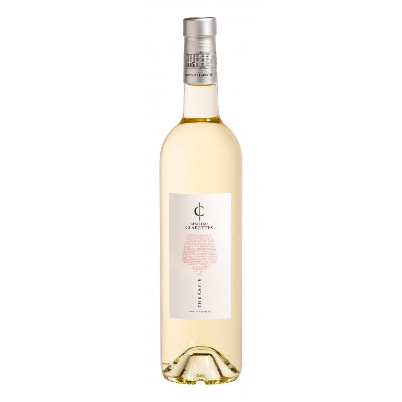 Vin Blanc - Côtes de Provence - Château Clarettes - Thérapie - Blanc 2018